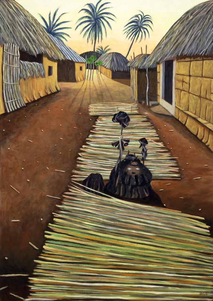 Adjodogou, Togo by Sue Matthews. (Folk Painting of Cuba)