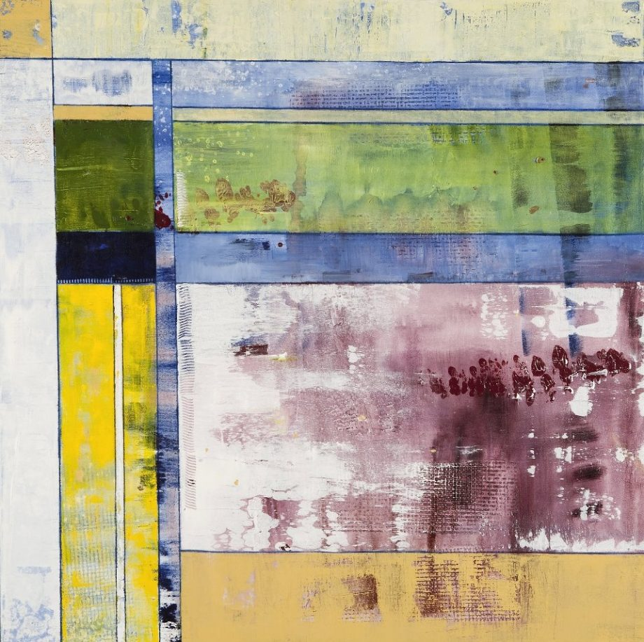 Cigar Box Redux, No. 4 by Kristen Jensen. (Abstract Acrylic Painting)