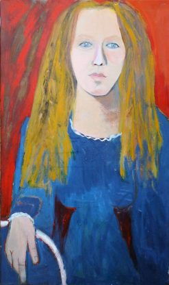 Dutch Girl by Carolyn Schlam. (Figurative Oil Painting)