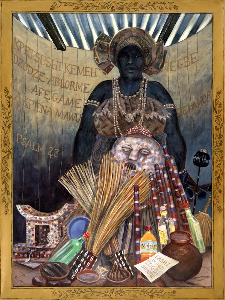 Dash's Togbi Shrine by Sue Matthews. (Folk Painting of Cuba)