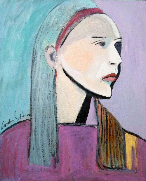 Greek Girl by Carolyn Schlam. (Figurative Oil Painting)
