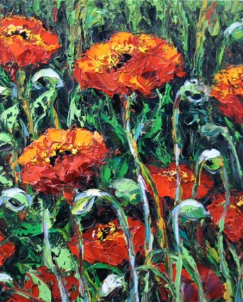 The Newest Poppy by Anna Good. (Oil Landscape Painting)