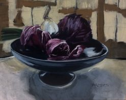 Largesse en Lavande by Marlene Walters. (Oil Still Life Painting)
