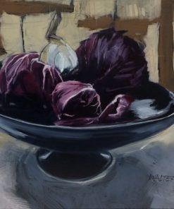 Largesse en Lavande by Marlene Walters. (Oil Still Life Painting)