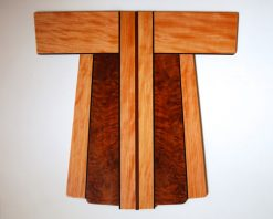 Kimono Cho 1-07 by Bruce Mitchell. (Abstract Wooden Wall Sculpture)