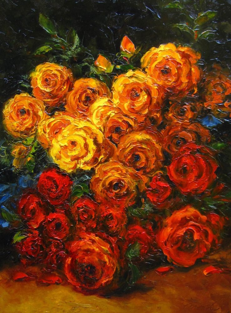 My Favorite Flower by Anna Good. (Oil Still Life Painting)