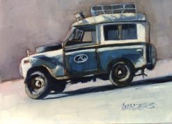 Old Rover by Marlene Walters. (Oil Painting)
