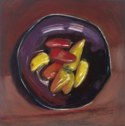 Peppers by Marlene Walters. (Oil Still Life Painting)