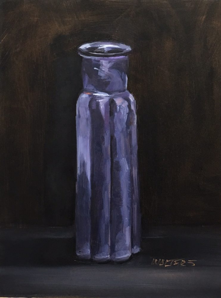 Purple Vase by Marlene Walters. (Oil Still Life Painting)