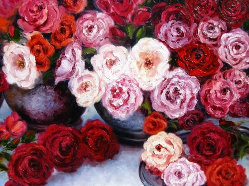 Radiant Roses by Anna Good. (Oil Still Life Painting)