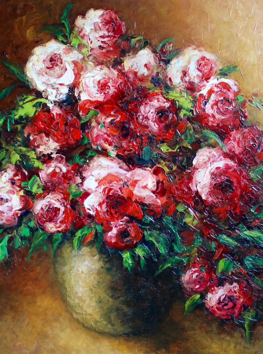 Romantic Bouquet by Anna Good. (Oil Still Life Painting)