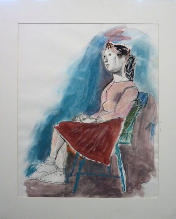 Carolyn Schlam, Schoolgirl, Pastel