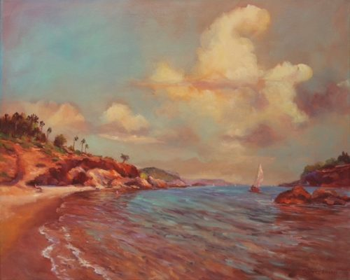 Summer by Beatrice Athanas. (Oil Landscape Painting)