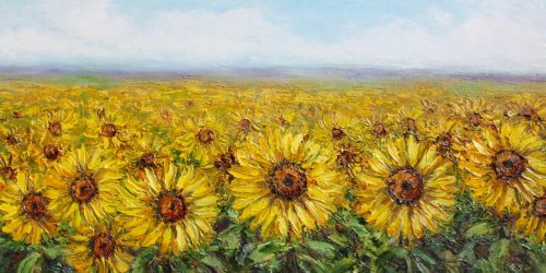 Sunflower Surprise by Anna Good. (Oil Landscape Painting)