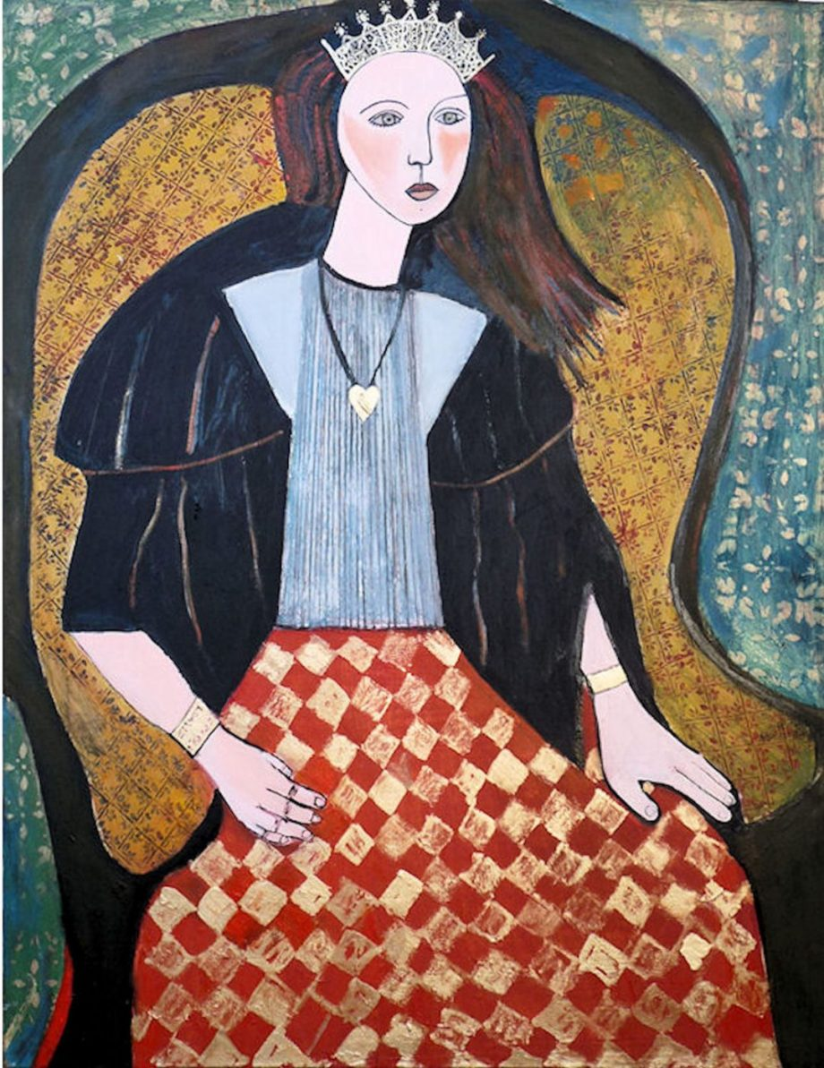 The Queen by Carolyn Schlam. (Figurative Oil Painting)
