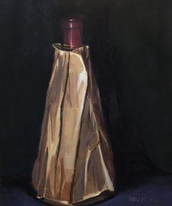 Wine Obelisk by Marlene Walters. (Oil Still Life Painting)