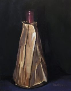 Wine Obelisk by Marlene Walters. (Oil Still Life Painting)