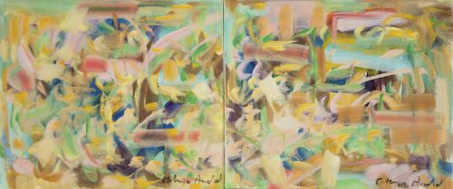 Daylight Diptych by Kathryn Arnold. (Abstract Oil Painting)