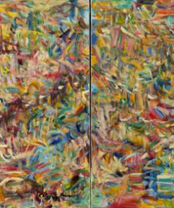 Immersion Diptych by Kathryn Arnold. (Abstract Oil Painting)