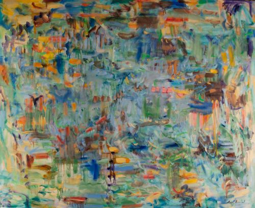 Sporadic Influence by Kathryn Arnold. (Abstract Oil Painting)
