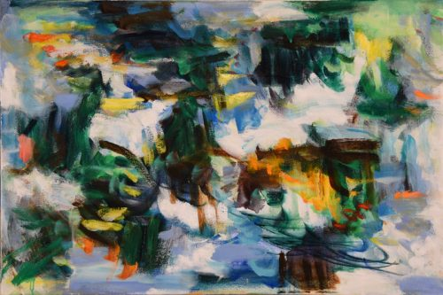 Unclear Beginning by Kathryn Arnold. (Abstract Oil Painting)