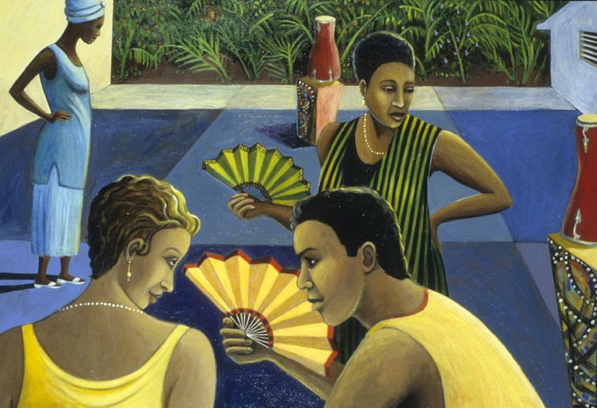 Abanicos by Sue Matthews. (Folk Painting of Cuba)