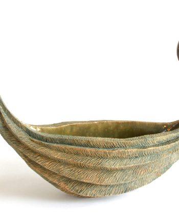 Adrift by Emil Yanos. (Stoneware Ceramic Vessel)