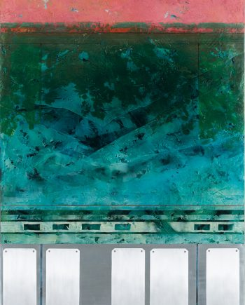 Antiquity Dive II by Helene Steene. (Abstract Mixed Media Painting)