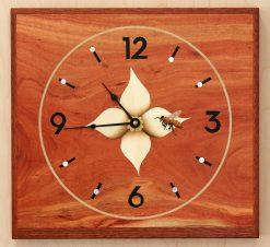 Bee on Flower Clock by Matthew Werner. (Hand-made Wooden Clock)
