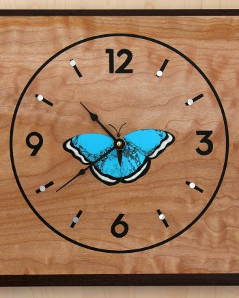 Blue Morpheus Clock by Matthew Werner. (Hand-made Wooden Clock)