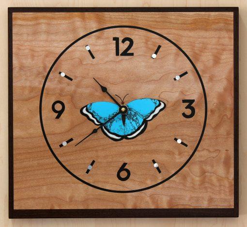 Blue Morpheus Clock by Matthew Werner. (Hand-made Wooden Clock)