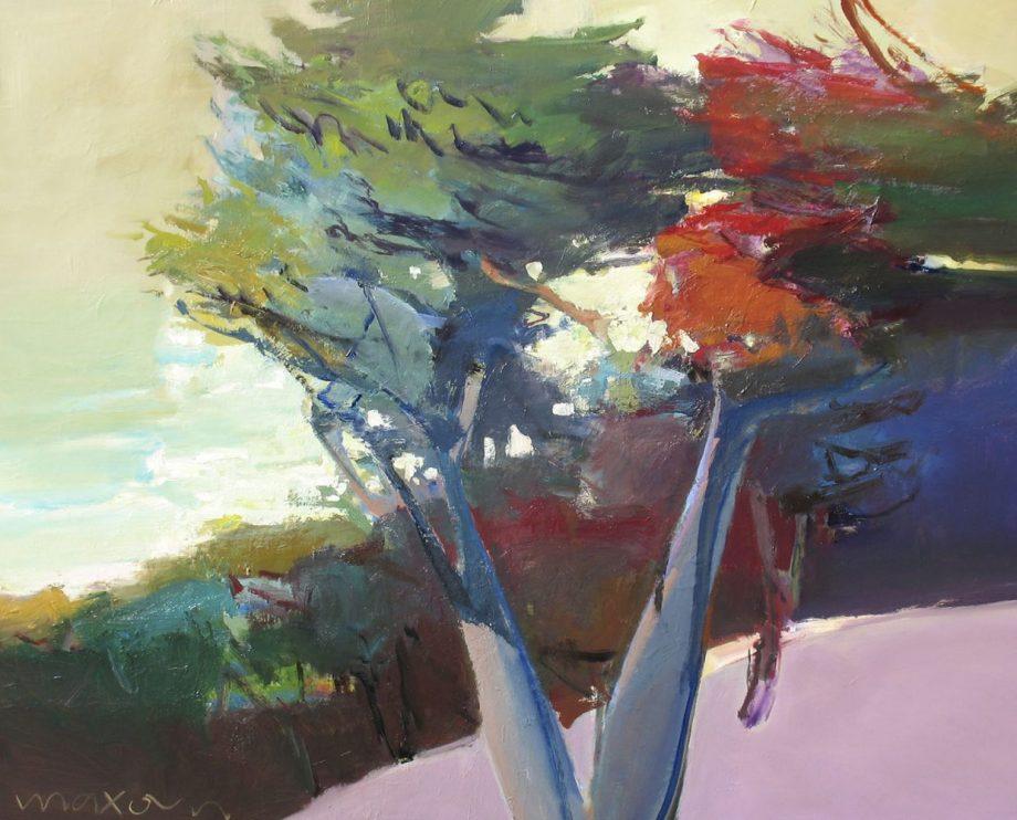 Branch Off by John Maxon. (Oil Landscape Painting)