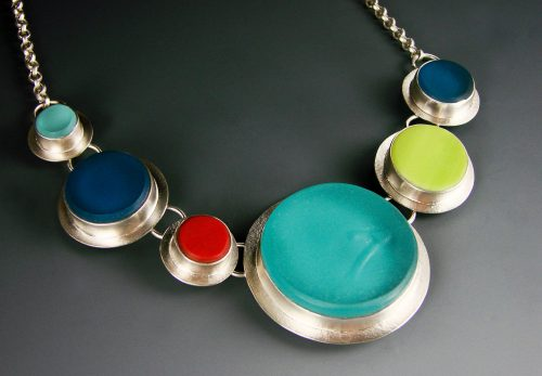 Bubble Necklace by Amy Faust. (Hand-made Silver Necklace)
