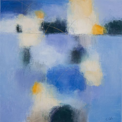 Blue (91501) by Carolyn Cole. (Abstract Mixed Media Painting)
