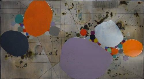 Calculation 2 by Ken Sloan. (Abstract Epoxy Resin Painting)
