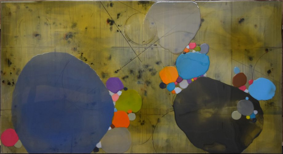 Calculation 3 by Ken Sloan. (Abstract Epoxy Resin Painting)
