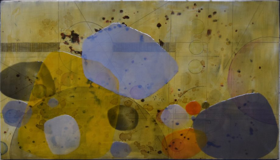 Calculation 7 by Ken Sloan. (Abstract Epoxy Resin Painting)