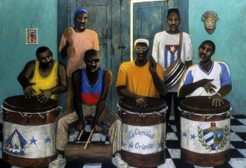 Caridad de Oriente by Sue Matthews. (Folk Painting of Cuba)