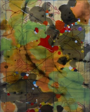 Cartogram 2 by Ken Sloan. (Abstract Epoxy Resin Painting)