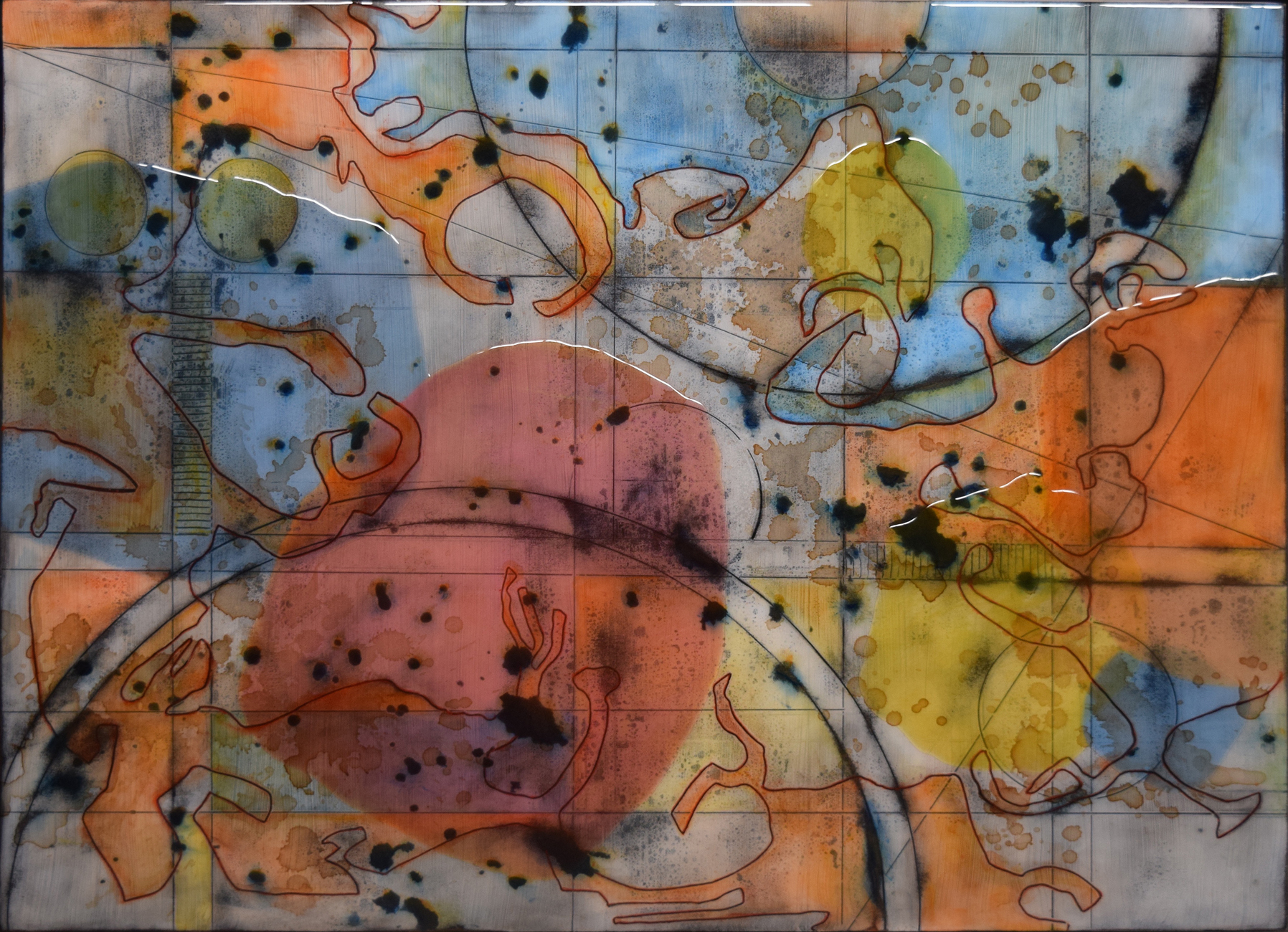 Cartogram 5 by Ken Sloan. (Abstract Epoxy Resin Painting)