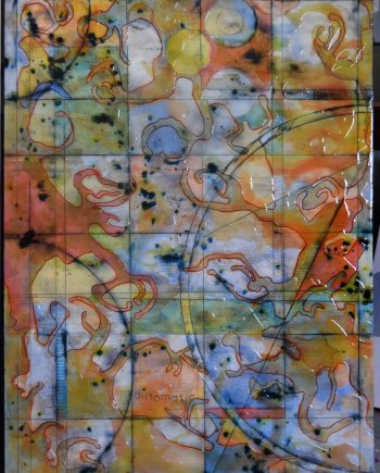 Cartogram 6 by Ken Sloan. (Abstract Epoxy Resin Painting)