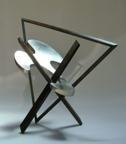 Cloud Construct by Riis Burwell. (Abstract Steel Sculpture)