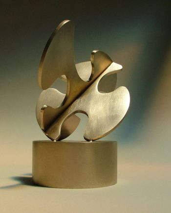 Cloud Cutout III-A by Riis Burwell. (Abstract Steel Sculpture)