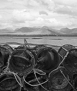 Crab Pots & 12 Bens, Connemara, Co. Galway by Doug Plummer. (Ireland Countryside Photograph)