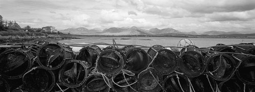 Crab Pots & 12 Bens, Connemara, Co. Galway by Doug Plummer. (Ireland Countryside Photograph)