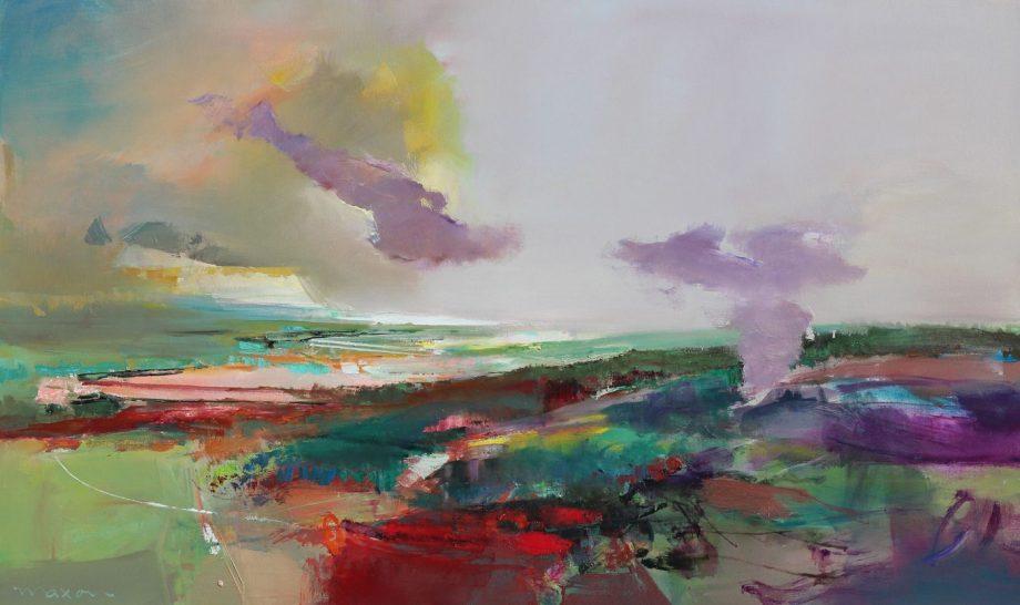 Curved Coast by John Maxon. (Oil Coastal Painting)