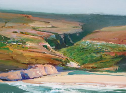 Deep Canyon by John Maxon. (Oil Landscape Painting)