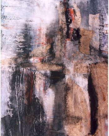 Dievole by Stella St.Pierre White. (Abstract Mixed Media Painting)
