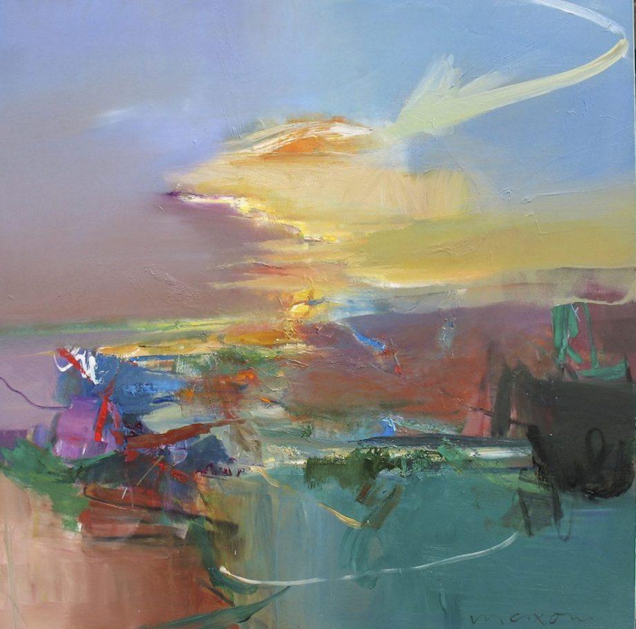 Double Arc by John Maxon. (Oil Landscape Painting)