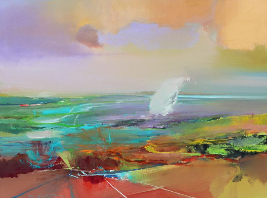 Drifting Over by John Maxon. (Oil Landscape Painting)